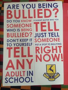 Anti-bullying poster for your school or classroom.