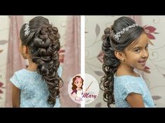 Peinado Romántico Para Quinceañera O Novia para niñas Little Girl Wedding Hairstyles, Mixed Girl Hairstyles, Romantic Hairstyles, Flower Girl Hairstyles, Party Hairstyles, Braided Hairstyles, Flower Girl Updo, Communion Hairstyles, Girls Updo