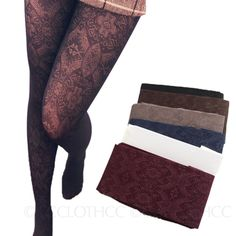 Winter Lace Tights NEW Stockings Ladies Pants Stretchy Glamour Womens Pantyhose #Vancy #Pantyhose