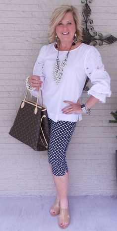 50 is not old the neverfull handbag fashion over 40 Womens Fashion Casual Summer, Fashion For Women Over 40, 50 Fashion, Womens Fashion For Work, Women's Fashion Dresses, Look Fashion, Fashion Design, Fashion Trends, Ladies Fashion