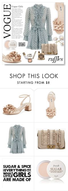 """""""Sugar and spice..."""" by modgirl71 ❤ liked on Polyvore featuring Miu Miu, Zimmermann, Rebecca Minkoff, Fresh and Goossens"""
