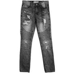 Bleecker & Mercer Slim Taper Fit Denim Mens P576-BK Black Jeans Size 38W 34L