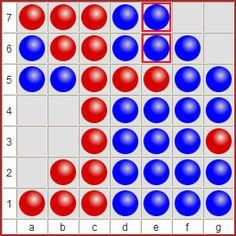 Ataxx spielen: Ataxx ist ein Taktikspiel, das um 1990 entstanden ist. Ganz genau ist es nicht bekannt. Zumindest sind um die Zeit ähnliche Computerspiele (z.B. Infection) erschienen. Auch verwandt ist Hexxagon, dass 1992 bei Argo Games erschienen war. Optisch ähnelt Ataxx etwas Reversi, aber es ist ein anderes Spiel, da Steine auch bewegt werden.