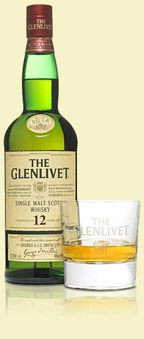 Glenlivet - wonderful taste of a 12 year old single malt scotch whisky. Available at West Coast Duty Free for $39 a litre, or two bottles for $72 CDN.
