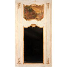 1STDIBS.COM - The Golden Triangle - Louis XV Trumeau Mirror with... ❤ liked on Polyvore featuring home y home decor