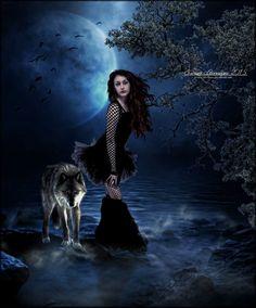 Lumina Beauty by SuzieKatz on DeviantArt Fantasy World, Dark Fantasy, Fantasy Art, Wolves And Women, Wolf Images, Wolf Painting, Werewolf Art, Arte Dc Comics, Fantasy Pictures