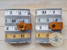 Type measure card holder by ManoFactured on Etsy