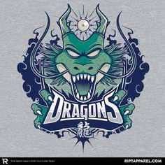 Dragon Ball T-Shirt by aka studioemeseis. Team Dragons is a sports logo parody t-shirt for Dragon Ball fans. Dbz, Goku, Dragon Ball Z, Dragon Super, Manga Dragon, Pokemon, Geek Games, Fan Art, Awesome Anime