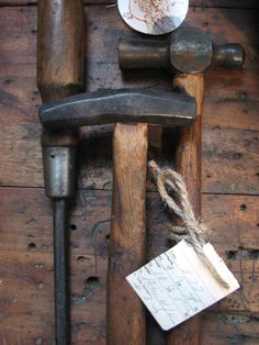 A trio of well-cared for and well-used old tools ...  http://www.facebook.com/IsabellaSparrow
