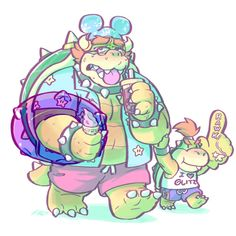 I drew this poor worn out Koopa Dad for Bowser Day last year. I hope he had an easier time this year! Nintendo Game, Nintendo Characters, Super Mario 3d, Super Mario World, Super Mario Brothers, Super Smash Bros, Deviantart, Mario Fan Art, King Koopa