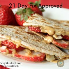 I'm not doing 21 day fix but this grilled fruit quesadilla looks delicious! 21 day Fix Snack Ideas 21 Day Fix Diet, 21 Day Fix Meal Plan, 21 Day Fix Snacks, 21 Day Fix Breakfast, Breakfast Ideas, Beachbody 21 Day Fix, Healthy Snacks, Healthy Recipes, Healthy Eating