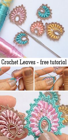 Crochet Leaves / Leaf These beautiful leaves are great for decoration. Learn how to crochet them with free video tutorial. The post Crochet Leaves / Leaf appeared first on Home. Crochet Leaves, Crochet Motifs, Freeform Crochet, Crochet Flowers, Crochet Stitches, Crochet Hooks, Knit Crochet, Crochet Crafts, Crochet Projects