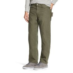 Dickies Men's Relaxed Straight Fit Sanded Duck Canvas Carpenter Jean-