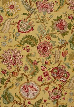 FSchumacher Fabric 172742 Chalfont Sunflower