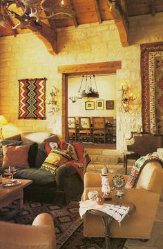 The Living Room. Native American inspired because I live right on the border of a Reservation.