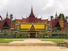 Khmer architecture in Cambodia.