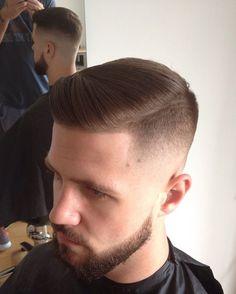 Clean fade #hair #hairstyle #haircut #style #barbershop #barber #guy #male #beard