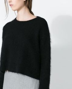 SHORT ANGORA SWEATER from Zara
