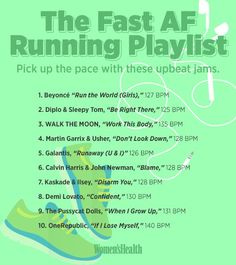 Add these fast and fun songs to your running playlist when you need to pick up the pace. These upbeat jams will help you run fast and strong. Music Mood, Mood Songs, Fun Songs, Music Songs, Running For Beginners, Running Tips, Running Playlists, Playlist Running, Running Routine