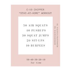 Anywhere Workout. For more inspiration + resources click here! Air Squats, Jump Squats, Fitness Nutrition, Health And Nutrition, Mental Strength, Health Coach, At Home Workouts, Push Up, Coaching