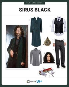 Avenge the death of your best friend, James Potter, dressed as Sirius Black from the Harry Potter books and movie. Harry Potter Kostüm, Harry Potter Cosplay, Harry Potter Halloween, Harry Potter Outfits, James Potter, Black Halloween Costumes, Cool Costumes, Cosplay Costumes, Halloween 2019