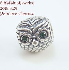 fe6d7987b Pandora Wise Owl Charm with Green CZ Sterling silver - #791211CZN #PANDORA  #European