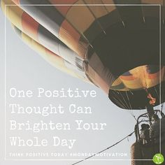 Thinking Positive Can Change Your Outlook And Your Mood. Help Create A Better Day With Positive Thinking #positivevibes #thinkbig #goodday #optimistic #brightenyourday #mondaymotivation #seedlinghealth