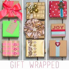 DIY Gift Wrapping Ideas - How To Wrap A Present - Tutorials, Cool Ideas and Instructions | Cute Gift Wrap Ideas for Christmas, Birthdays and Holidays | Tips for Bows and Creative Wrapping Papers |  Holiday Gift Wrapped 3 Ways  |  http://diyjoy.com/how-to-wrap-a-gift-wrapping-ideas