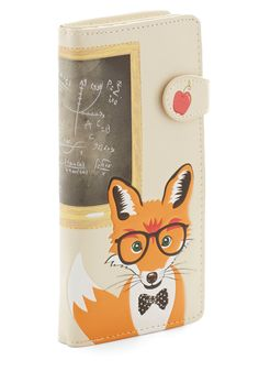 Mathematic Mr. Fox Wallet. Youve got skills both with summation and style, which you show off my carrying this fox wallet! #cream #modcloth