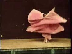 "Dated 1896, more then 100 years ago Loïe Fuller's did her famous skirt dance in front of Lumiere Brothers camera. Hand-coloured frame by frame, this is for me the oldest moving sculpture. So, so, beautiful. It is called ""Danse Serpentine"""