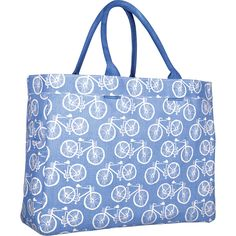 Blue Bicycles Canvas Carry All Tote Bag — MUSEUM OUTLETS