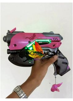 Item Detail Overwatch DVA LED Cosplay Prop Includes - Gun Prop Important Information: Primary Material - EVA, PVC, Light Wood Safety - All props are made with convention/event safe material. All sword