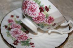 Vintage Royal Kendal English Pink Carnations by TwilightKeepsakes