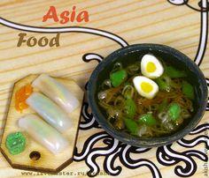 Азиатская кухня суп и роллы кукольная миниатюра - Чудеса в ладошке (Акинина Марина)
