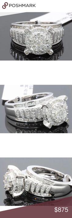 Amazing 1.70 carat 10k white gold diamond ring Amazing 1.70 carat 10k white gold diamond ring Jewelry Rings