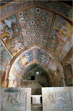 The Byzanatine frescoes of San Pellegrino. #Bominaco, #Abruzzo.