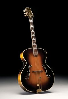 Although the Emperor overshadowed Epiphone's De Luxe model, the De Luxe remained a popular choice both for its lower . Epiphone Acoustic Guitar, Custom Acoustic Guitars, Archtop Guitar, Jazz Guitar, Music Guitar, Cool Guitar, Playing Guitar, Banjos, Gibson Guitars