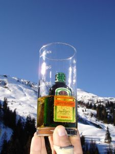 Flying Hirsch - love this apero on ski holidays!
