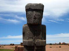 Monolito em Tiahuanaco. Bolívia.