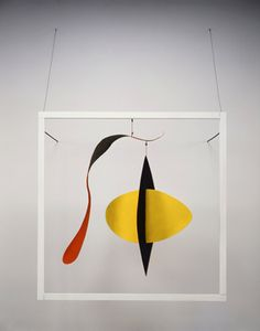 Alexander Calder | Snake and the Cross, 1936. Sheet metal, wire, wood, string and paint.