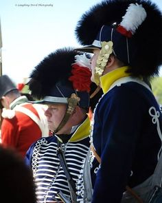 "In 1813, the 19th still had the old pattern uniform hussar-style uniform with Tarleton helmets. Replica uniform of the British 19th Light Dragoons, circa 1812, back view.  (Fort York, Toronto). Before 1812, the regulation Light Dragoon uniform consisted of a leather, bearskin-crested, ""Tarleton"" helmet and a blue jacket heavily braided with hussar-style cords."