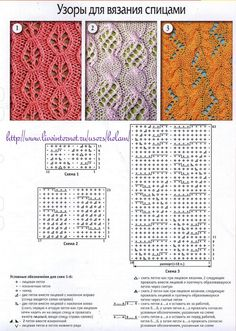 I love how so many of these russian knitting stitches combine lace and cables..