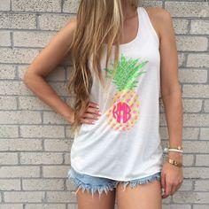 Monogram Pineapple Tank Top
