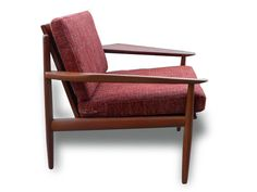 Mid-Century Danish Modern Grete Jalk Teak Lounge by XcapeVintage