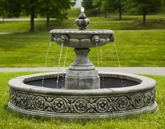 Parisienne One Tier Outdoor Garden Fountains