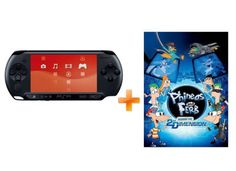 Sony PSP-E1004 - Μαύρο & Phineas and Ferb: Across the 2nd Dimension