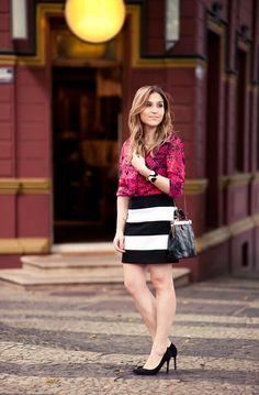 Look da Lu: listras e floral - Chata de Galocha! | Lu Ferreira