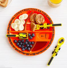 A plate that turns dinner into a construction site.