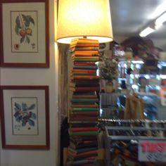 Book lamp in op shop in Chapel St, Melbourne