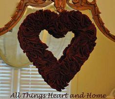Felt Heart-Wreath